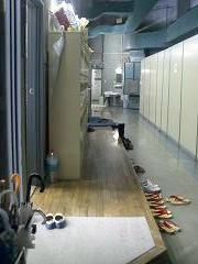 第2実習室前の廊下